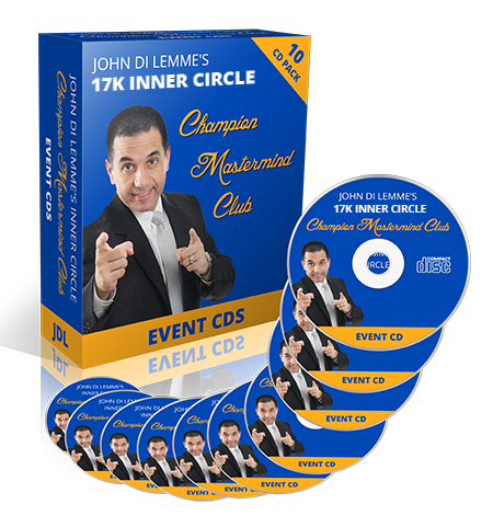 John Di Lemme's Inner Circle Champion Mastermind Club Membership Benefit - CD & DVD of Events
