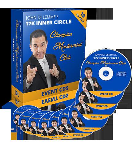 John Di Lemme's Inner Circle Champion Mastermind Club Membership Benefit - CD & DVD of Events