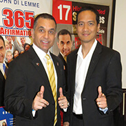 Michael Zapanta with John Di Lemme