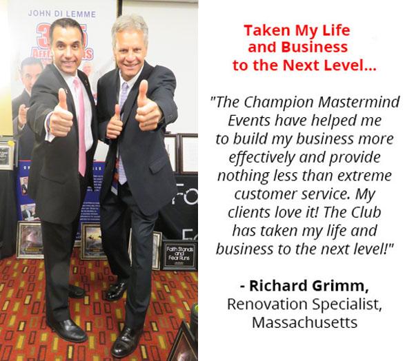 John Di Lemme with Richard Grimm